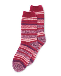 Heat For Your Feet Socks Purple Mix