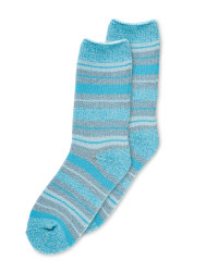 Heat For Your Feet Socks Turquoise