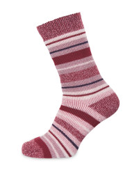 Heat For Your Feet Socks Size 2.5-5 - Pink