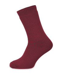 Heat For Your Feet Socks Size 2.5-5 - Red