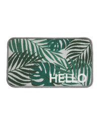 Hello Washable Door Mat