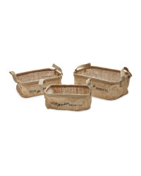 Hessian Baskets 3-Pack