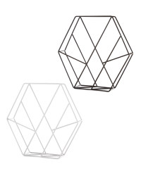 Hexagon Cross Magazine Storage Rack
