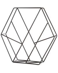 Hexagon Cross Magazine Storage Rack - Black