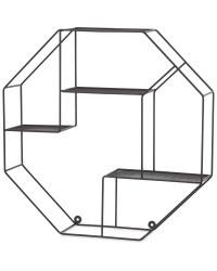 Kirkton House Hexagon Wire Shelf - Black