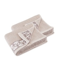 Hexagon Guest Towels 2 Pack