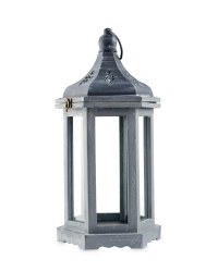 Hexagonal Indoor Wooden Lantern