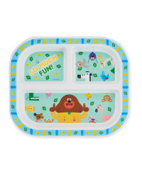 Hey Duggee 3 Section Plate