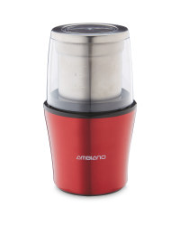 Ambiano Gloss Coffee/Spice Grinder - Red