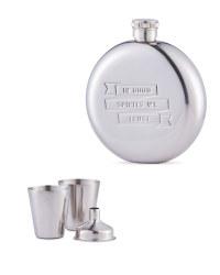 Hip Flask, Funnel & Shot Cups Set