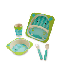 Hippo Bamboo Dinner Set