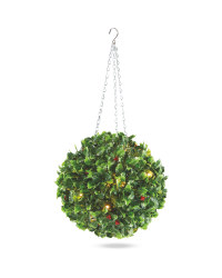 Holly Effect Topiary Ball