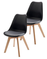 Home Creation Black Chairs 2-Pack