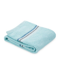 Home Creation Stripe Hand Towel - Aqua