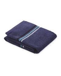 Home Creation Stripe Hand Towel - Navy