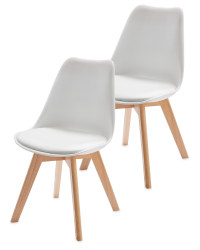 Home Creation White Chairs 2-Pack