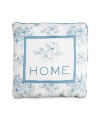 Home Floral-Print Vintage Cushion