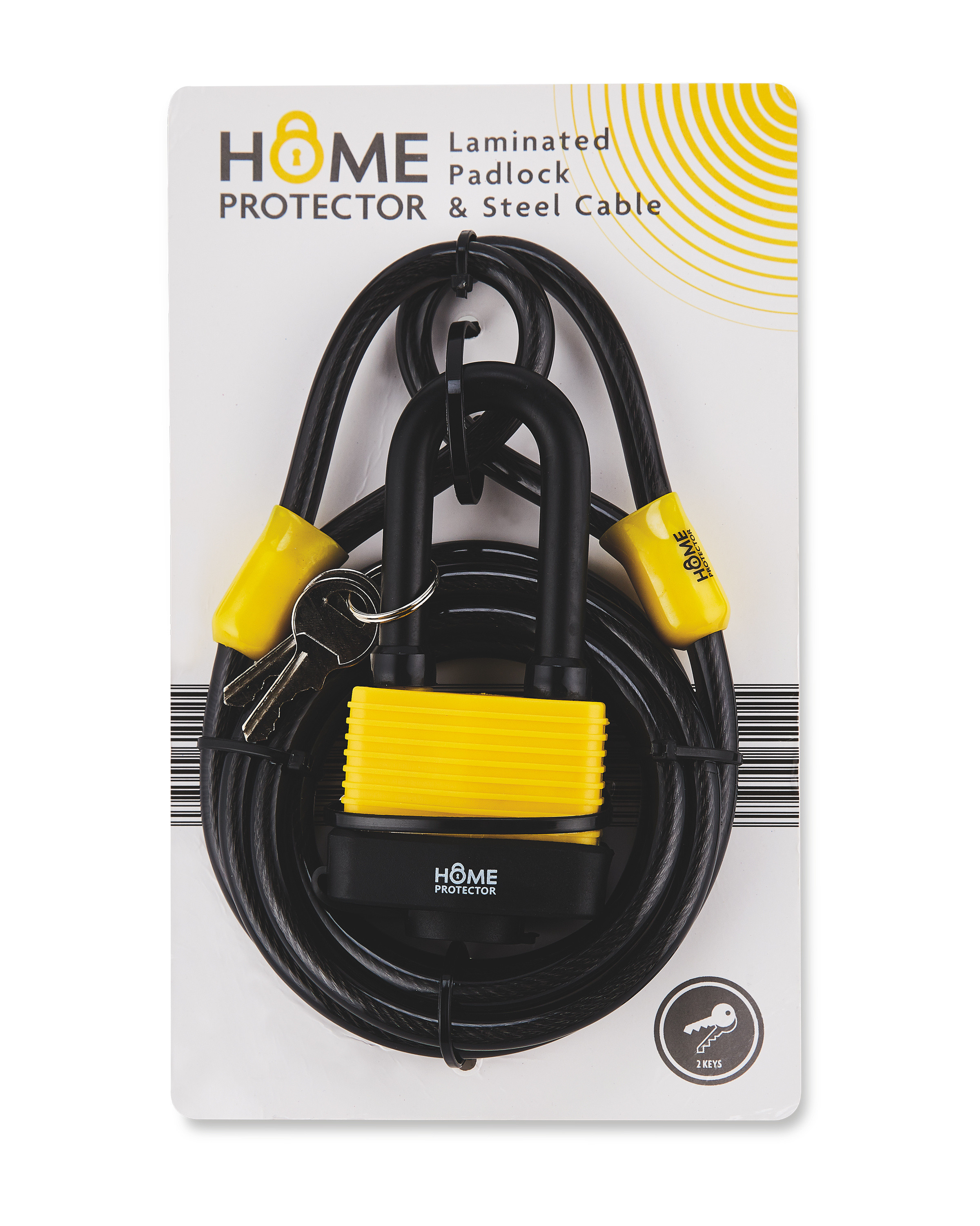 Home Protector Padlock & Cable