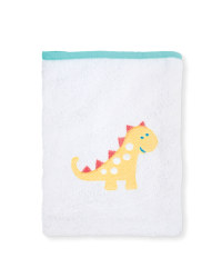 Hooded Dinosaur Print Baby Towel