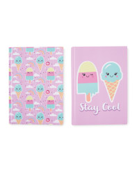 Hoopla A5 Ice Cream Notebook 2-Pack