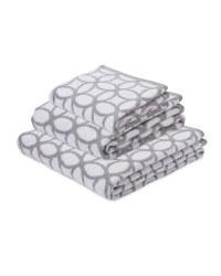 Hoops Patterned Bath Towel Set