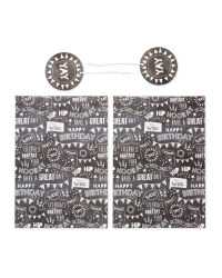 Hooray Gift Wrap & Tags 2-Pack
