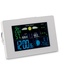 Horizontal LCD Weather Station - White
