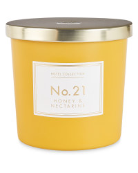 Honey And Nectarine Matte Candle