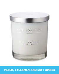 Hotel Collection White Large Candle
