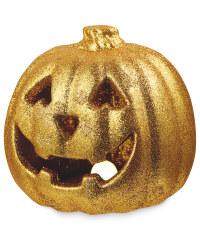 Halloween Gold Light Up Pumpkin