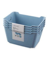 Blue 1.8L Storage Box 4 Pack
