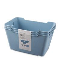 Blue 6L Storage Box 3 Pack