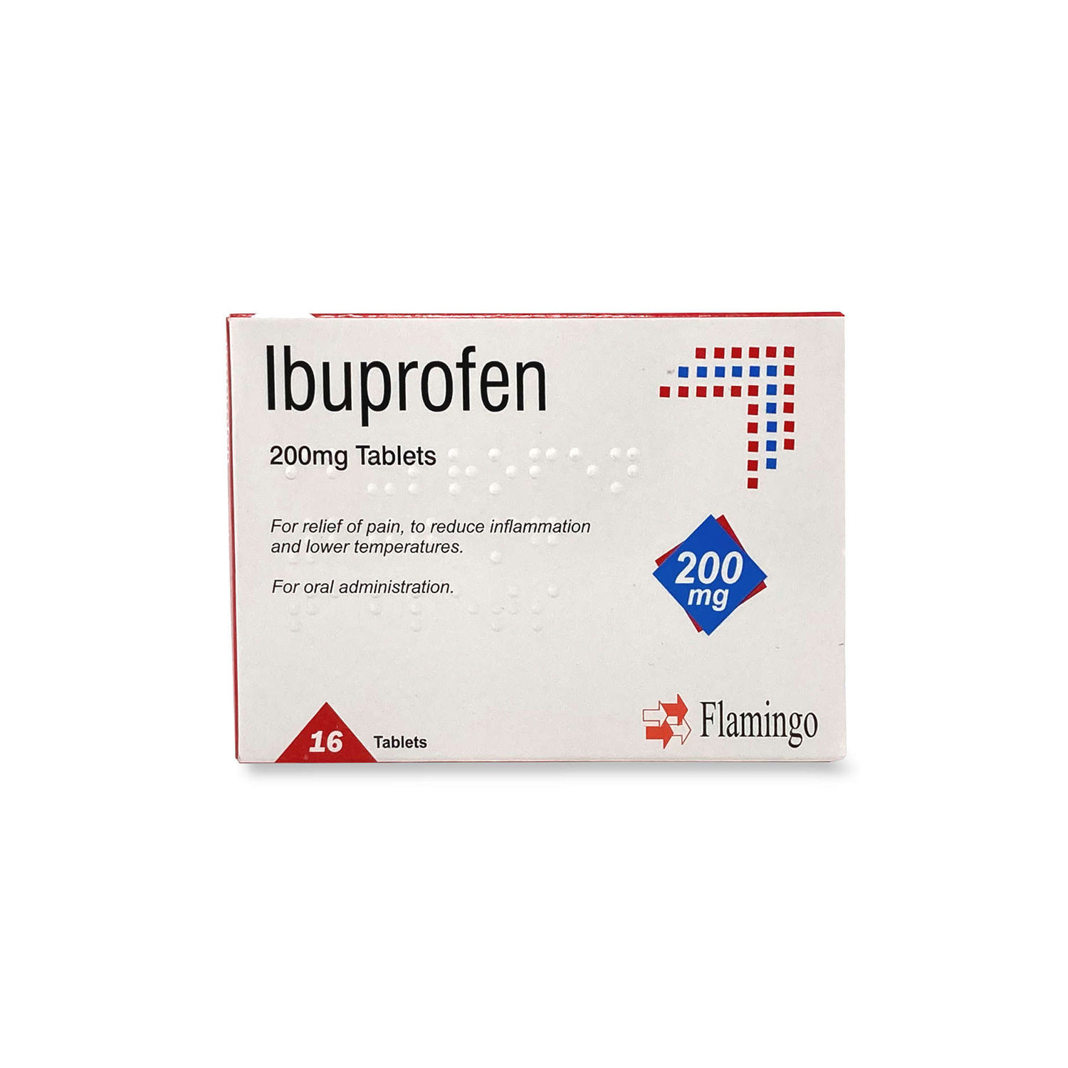 Flamingo Ibuprofen Tablets 200mg