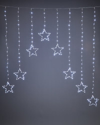 Ice White Star LED Curtain Lights