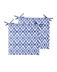 Ikat Outdoor Seat Pads 2 Pack