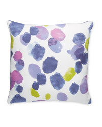Indigo Ink Splodge Cushion