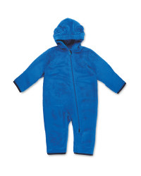 Infants Blue Sherpa Fleece Suit