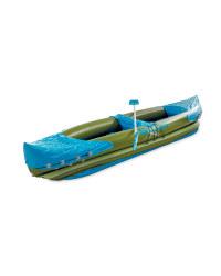 Inflatable Kayak - Olive-Green/ Blu