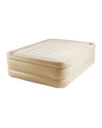 Intex Air Bed & Built In Pump Beige