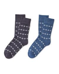 Blue Mountain Socks 2 Pack