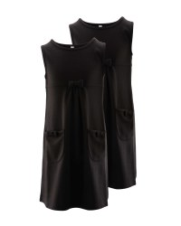 Lily & Dan Jersey Pinafore 2 Pack - Black