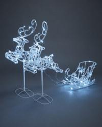 Flying Reindeer and Sleigh