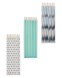 Script Jewelled Pencil 8 Pack