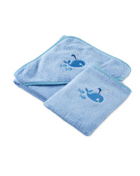 Jolly Whale Hooded Baby Towel