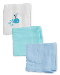 Jolly Whale Muslin Cloths