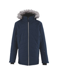 Junior Navy Padded Snow Jacket