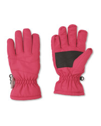 Crane Junior Pink Ski Gloves