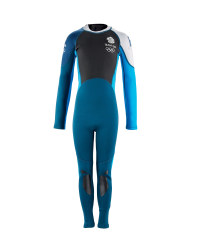 Junior Team GB Full Length Wetsuit - Blue