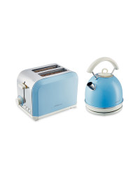 Kettle and Toaster Set - Blue