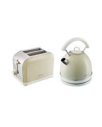 Kettle and Toaster Set - Cream